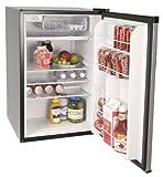 Haier HNSE05VS -01 Freestanding 4-3/5-Cubic-Foot Refrigerator/Freezer, Black with Virtual-Steel Door