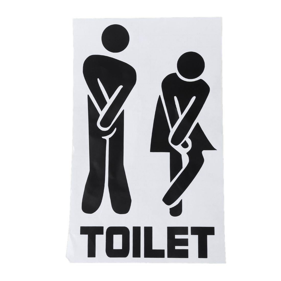 Amazon.com: SODIAL (R) Funny Cartel para puerta de baño ...