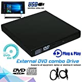 Slim External USB 2.0 DVD Drive CD RW Writer Burner Reader Player Portable for PC Laptop