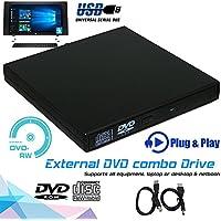 Accreate PC portátil Delgado Externo USB 2.0 Unidad de DVD CD RW Grabador Reproductor de Grabador