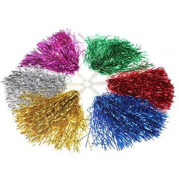 Dance Cheerleader Costumes (Metallic Cheerleader Poms Dance Party Welcome Costume Streamer^.)
