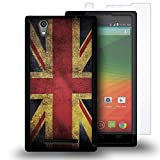 zte zmax british - Zmax Case, CoverON for ZTE Zmax Z970 Hybrid Case [VitaCase Series] Ultra Slim Fit Hard Polycarbonate Rubberized Back Phone Cover - (British UK Flag)