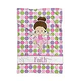 Ballet Blanket - Pink Dot Ballerina Personalized Name Blanket