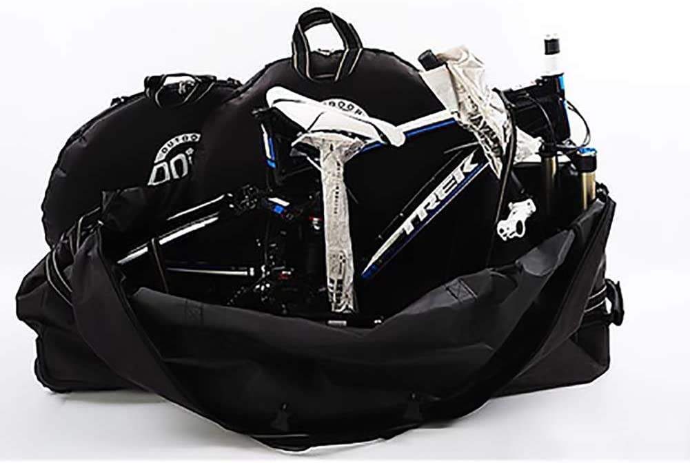 600D Oxford Cloth Folding Bicycle Carry Bag Pouch Transport Cover Carrying Case for Transport,Air Travel 20-27.5 inch Bike Travel Bag Heavy Duty 600