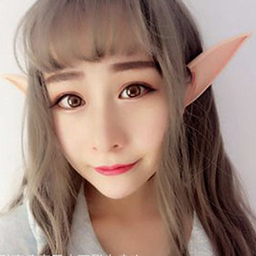 (Iumer Cosplay Elf Ears Accessories Halloween Party Pointed Prosthetic Tips Ear Masks Soft Fairy Pixie 1 Pair (4.92inch 1.57inch) for)
