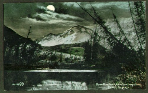 Bow River Sun Dance Rd Banff AB undivided back postcard 1900s