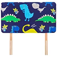 Ready Steady Bed Dino in the Dark Design Children's Single Headboard 3ft Bed Size Foam Upholstered