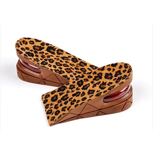 Voberry® Air Up Hoogte Verhoging Schoenen Binnenzool Luchtkussen Hiel Insert Verhogen Langere Hoogte Lift 5cm / 2inch Voor Mannen En Vrouwen Bruin