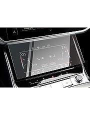 CDEFG A6 A7 C8 2019 2020 glas beschermfolie, auto 9H krasbestendig GPS transparant displaybeschermfolie bescherming bescherming Navi folie (voorzijde A/C)
