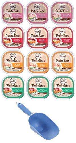 Nutro Petite Eats Adult Dog Food 4 Flavor Variety Bundle: (3) Chicken Entree, (3) Roast Turkey/Vegetable, (3) Lamb/Vegetable, (3) Beef/Potato Stew, 3.5 Oz Each (12 Total) - 1 Cup Food Scoop Included! ()