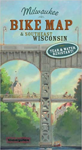 Milwaukee and SE Wisconsin Bike Map 2nd Edition Bruce Thompson