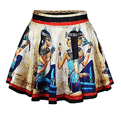 ABCHIC Women's Spring Summer Akhnaton Pharaoh Pleated Mini Skirt Medium