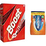 Boost Health & Nutrition drink 750gm Refill and Horlicks  (Classic Malt) 750gm Refill