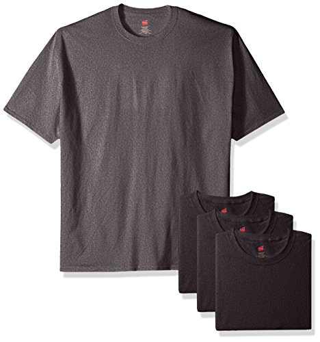 Hanes-Mens-ComfortSoft-T-Shirt-Pack-Of-4-Charcoal-Heather-Medium