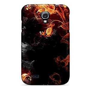 Galaxy Cover Case - Flaming Bouquet Protective Case Compatibel With Galaxy S4