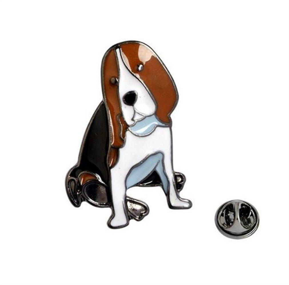 Enamel Pin Badge Souvenir Bande dessinée mignonne chiot série Broches insigne Badge Badge (Brown) TOUYOUIOPNG
