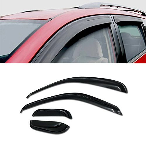 For 1995-2004 Toyota Tacoma Extended Cab Models SUN/RAIN/WIND GUARD SMOKE VENT SHADE DEFLECTOR WINDOW VISOR 4PCs