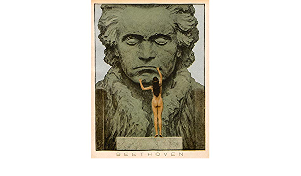Fidus Beethoven Temple Statue Draft Canvas Wall Art Print Poster