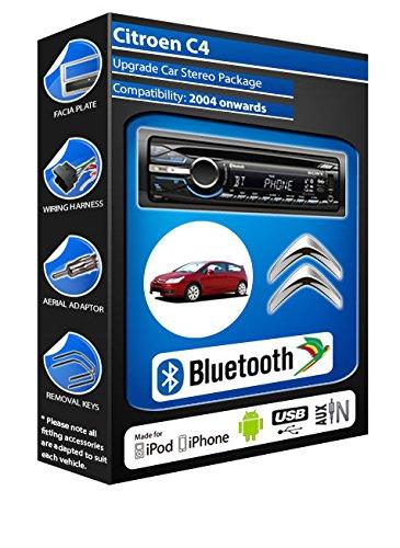 Citroen C4 car stereo CD player Bluetooth Handsfree kit: Amazon co