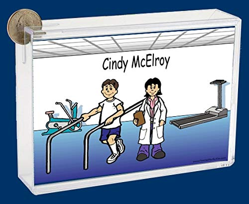 Personalized NTT Cartoon Side Slide Frame Gift: Physical Therapist Female Gift, Sports Medicine, Physical Therapy, Spinal Manipulation, Doctor