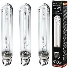 Yield Lab 400w High Pressure Sodium (HPS) Digital HID Grow Light Bulb (2100K) – 3 Bulbs – Hydroponic, Aeroponic, Horticulture Growing Equipment