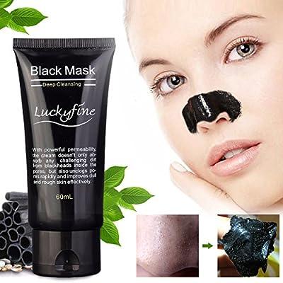 Blackhead Cleansing ,Blackhead Cleansing Mask Cleaner LuckyFine Face Mask/Deep Clean Blackhead/Farewell Strawberry Nose/Blackhead Killer Facial Masks Black 60ml