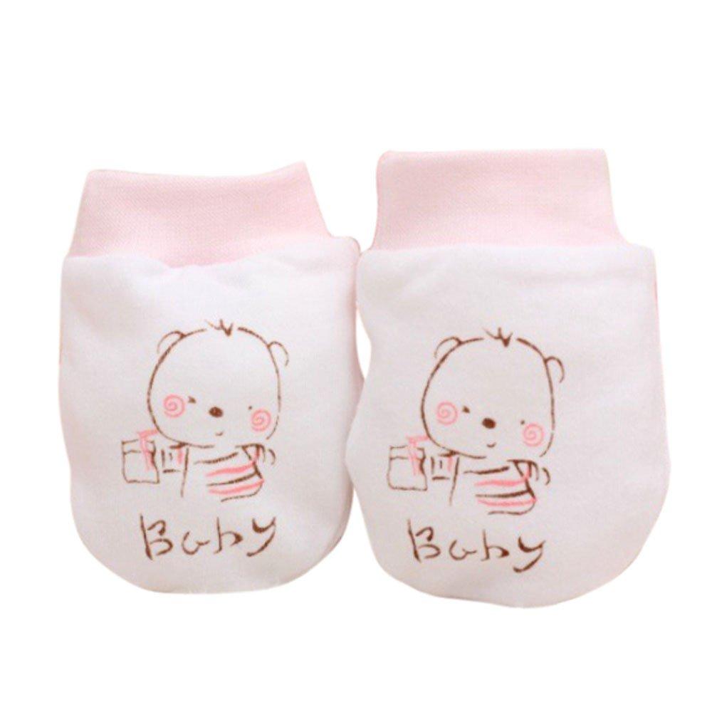 Muium Toddler Cute Cartoon Glove Baby Boys Girls Anti Scratch Mittens Soft Warm Gloves For 0-12 Months