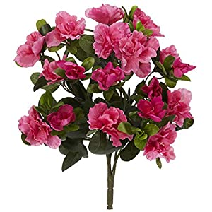 "Nearly Natural 6067-S4 13"" Azalea (Set of 4) Artificial Plant, Pink 44"