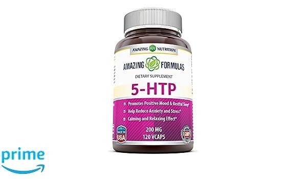 Amazing Nutrition Amazing Formulas 5-htp 200 Mg 120 Vcaps: Amazon.es: Salud y cuidado personal