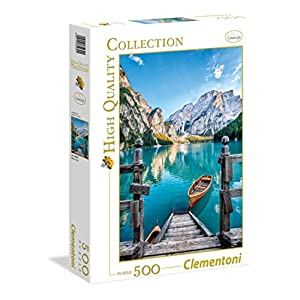 Clementoni 35039 High Quality Collection Puzzle Braies Lake 500 Pezzi