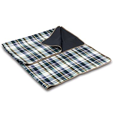 Picnic Time Outdoor Picnic Blanket Tote, English Plaid