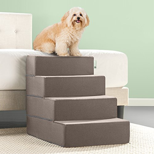 Zinus Easy Pet Stairs / Pet Ramp / Pet Ladder, X-Large, Sand