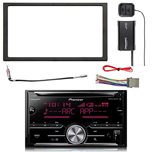 (Pioneer Double DIN CD Bluetooth SiriusXM-Ready Receiver, SiriusXM Satellite Radio Tuner Kit, Double DIN Install Dash Kit, Stereo Wiring Harness, Antenna Adapter (Select 2000-2008 Vehicles))