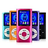 MYMAHDI-Digital-Compact-and-Portable-MP3-MP4-Player-Max-support-64-GB-Micro-SD-Card-with-Photo-Viewer-E-Book-Reader-and-Voice-Recorder-and-FM-Radio-Video-Movie-in-Pink