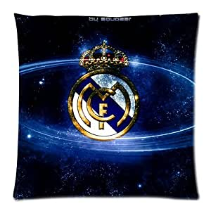WXSTAR Soft And Comfortable Real Madrid Club Custom Zippered Pillow Cases 18x18 (Twin sides)