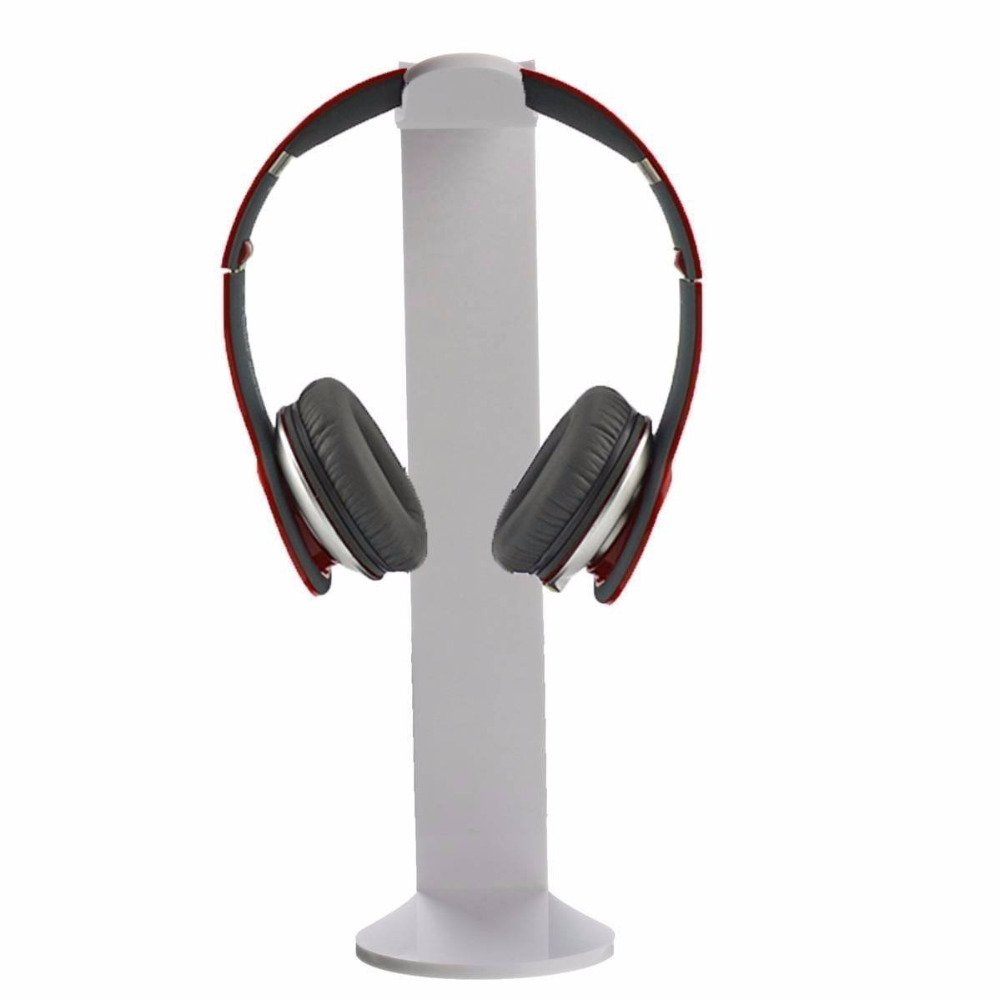 Elect-w Stand Holder Headphone Headset Hanger Display Earphone Desk Universal Acrylic