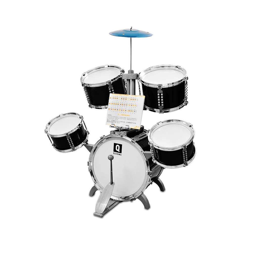 LINGLING-Trommel Schlagzeug Klavier 3-6 Jahre Anfänger Musikinstrumente Jungen und Mädchen Früherziehung Puzzle Kinderspielzeug Geschenk Elektronische (Farbe   Rosa, größe   7 Drums) Schwarz5 drums