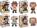 The Walking Dead - Pop Vinyl 4 Figure Collection (Rick, Daryl, RV Walker, Bicylce Zombie)