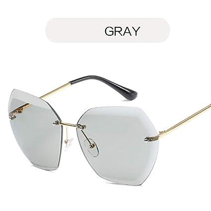 FUZHISI Gafas de Sol Sin Montura Lente de Corte Gafas de Sol ...