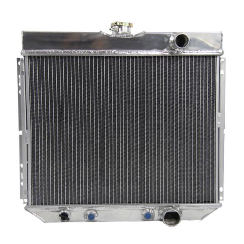 OzCoolingParts 63-70 Ford & Mercury Radiator, 4 Row Core Aluminum Radiator for 1963-1970 Ford Falcon/Mustang/Fairlane/Torino/Country Sedan/LTD/Galaxie/Country Squire, 1967-1968 Mercury Cougar, L6 ()