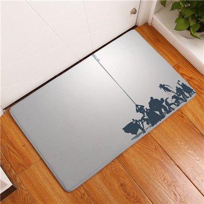 Amazon Com 19x31 Inch Off White Hulk Bathroom Mat Black Iron Man
