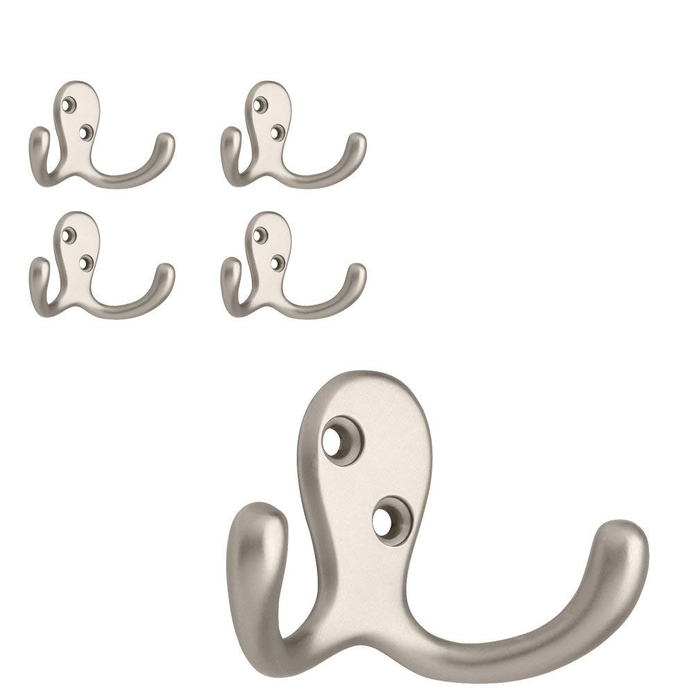 Brainerd B59104G-SN-C Double Prong Robe Hook