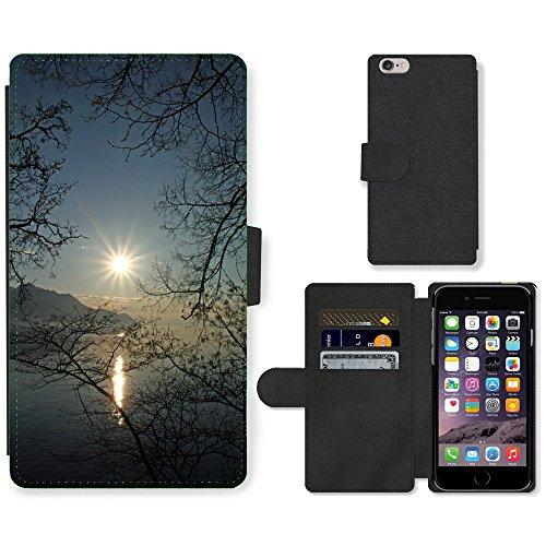 """PU Leather Cover Custodia per // M00421556 Lac Léman en Suisse Coucher de soleil // Apple iPhone 6 PLUS 5.5"""""""