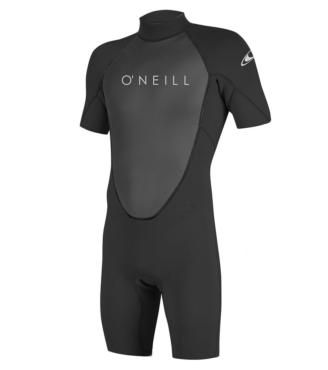 O'Neill Men's Reactor-2 2mm Back Zip Short Sleeve Spring Wetsuit, Black, X-Small