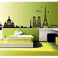 Removable Mural Craft Decal Hot Home Decor Paris Eiffel Tower Decal Wall Sticker Art Mural Bedroom/Living Room Decor Black