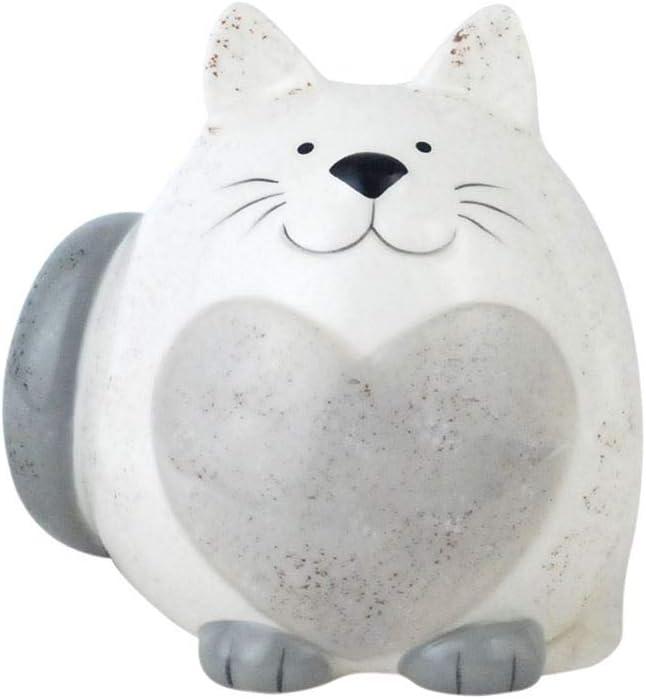 SIGRIS Decor and Go Hucha Gato Figuras de Animales Y Plantas al Estilo Rom/ántico Material Principal Ceramica DG16278