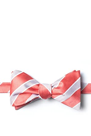 db4710481ba0 Jefferson Stripe Coral Microfiber Butterfly Bow Tie at Amazon Men's ...