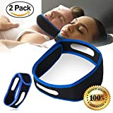 Anti Snoring Chin Strap – Two Snoring Chin Straps Kit- Adjustable Size, Comfy & Padded Fit -Most Effective Snoring Solution and Anti Snoring Devices Stop Snoring Sleep Aid for Men and Women