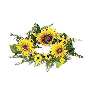 "Sullivans 11"" Artificial Sunflower Table Wreath 117"