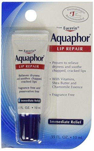 Aquaphor Lip Repair Tube Blister Card, 0.35 Ounce (Pack of 4)